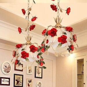 Image 2 - Lámpara Led con forma de rosa roja para decoración de restaurante, cocina, moderna, balcón, pasillo