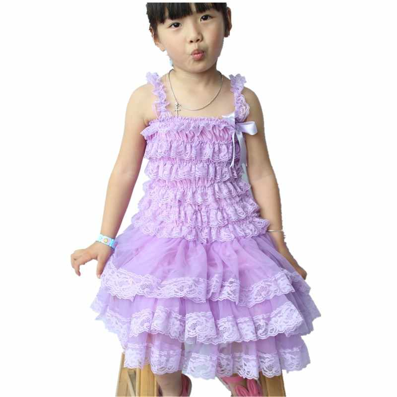 6a3b8a07f ... Girls Clothes Lavender Lace Chiffon Dress Toddler Infant Flower Girls  Dress for Wedding Party Baby Photo