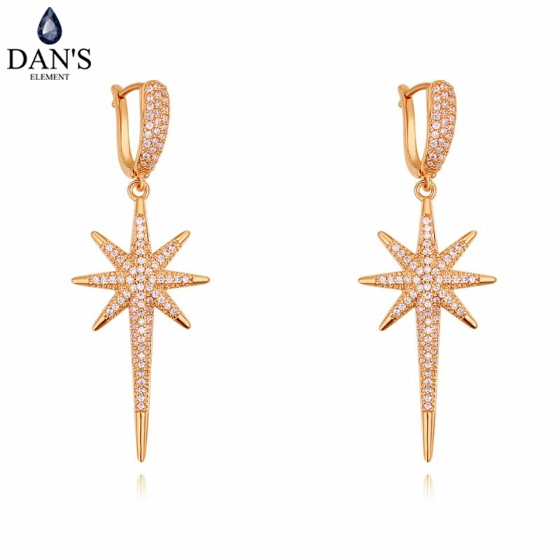 DANS 3 Colors Real Austrian crystals Stud earrings for women Earrings s New Sale Hot Round 129582