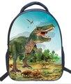 3D школьные ранцы для мальчиков школьная сумка с принтом Динозавр Детский сад Детская сумка через плечо Mochila Infantil