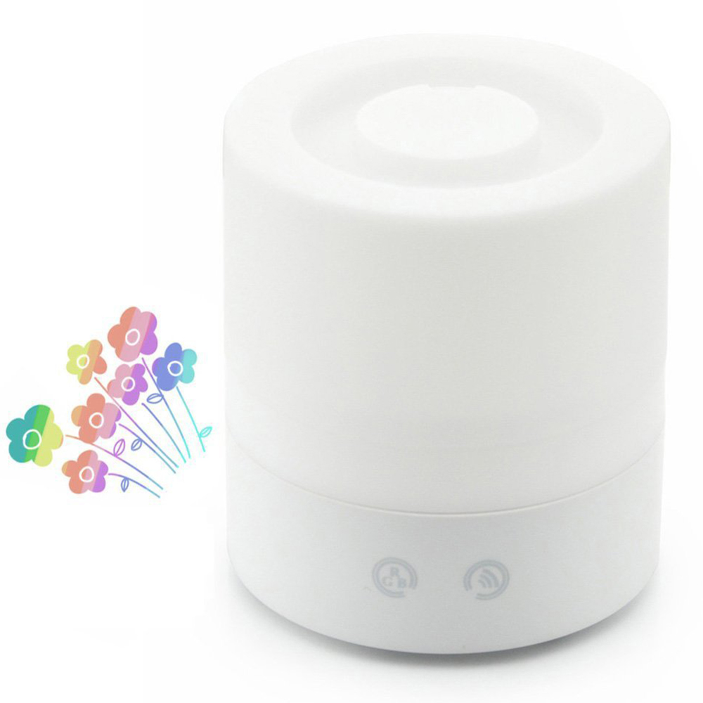 Mini Touch Button Aromatherapy Air Humidifier Aroma Diffuser Colorful LED Light Essential Oil Diffuser Home Office Mist Maker 2017 new 100ml usb aromatherapy humidifier moistener atomization essential oil diffuser mist maker led light touch button
