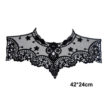 Dress Applique Lace Fabric Blouse Costume Decor Accessories DIY Neckline Collar Sewing Trims White Black