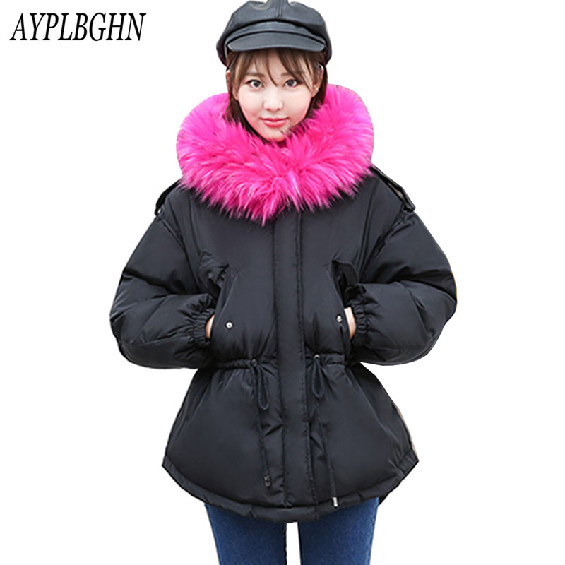 Parkas Women Coats Autumn Warm Winter Jackets Large color raccoon fur hooded coat parkas outwear long winter jacket brand style 2017 kids jacket winter for girl and coats duck down girls fluffy fur hooded jackets waterproof outwear parkas coat windproof