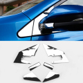 2016 Car Styling 6 Pcs/Set Rear view mirror Side Triangle Sequins External Accessories Trim For Toyota RAV4 2016