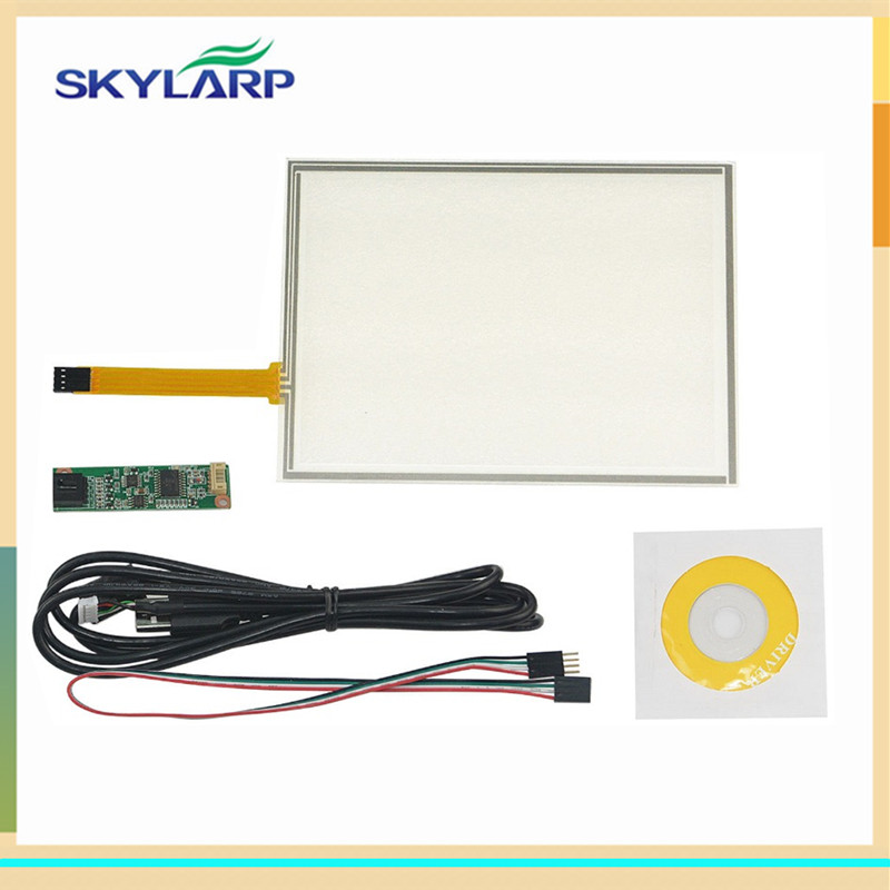 New 8 Inch 4 Wire Resistive Touch Screen Panel USB Controller for AUO A080SN01 LCD Screen touch panel Glass Free shipping