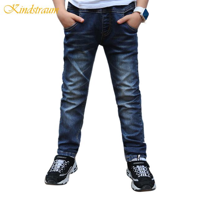 Kindstraum 2017 meninos jeans casual 5 estilos de moda denim calças para crianças crianças de algodão lavado calças de base sólida, MC452