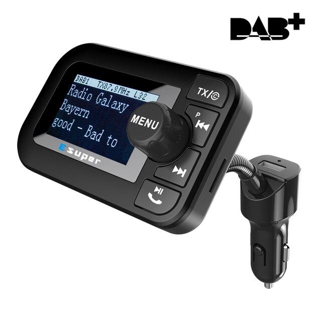 DAB 105 משולב אלחוטי לרכב 5 V/2.1A LCD תצוגת מטען לרכב Bluetooth דיבורית Mp3 נגן DAB מתאם FM משדר