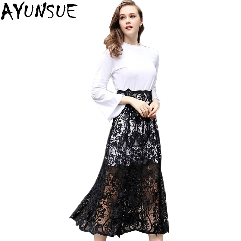 Ayunsue New 2019 European Womens Sets Tow Pieces High -2416