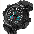 2016 Nueva SANDA Marca Moda casual Reloj Militar Hombres Relojes Deportivos Choque de Lujo de Los Hombres Reloj de Cuarzo Analógico Led Digital