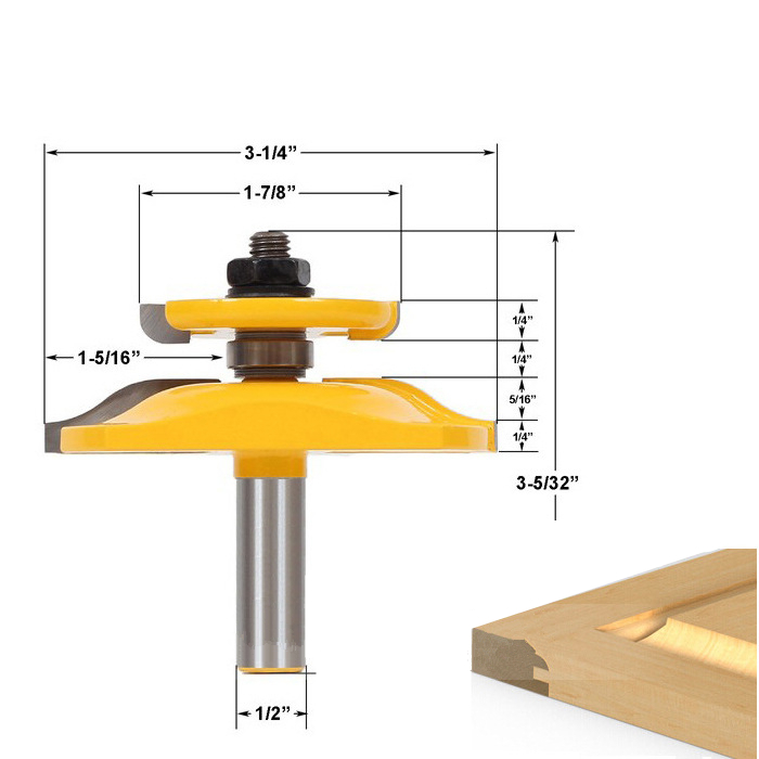 Image 2 - 1PCS 1/2 Inch shank Free shipping 12.7mm shank woodworking router bit,solid carbide end mill,wood milling cutter,cupboardmilling cutterwood milling cutterwoodworking router bits -