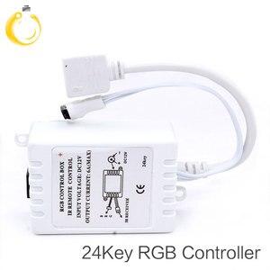 Image 3 - 24Keys LED RGB Controller DC12V IR Remote Controller for SMD 3528 5050 RGB LED Strip Lights