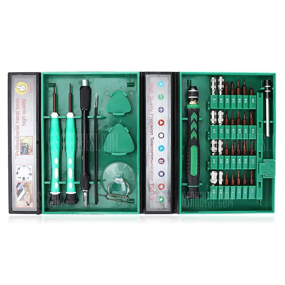 Vente Tournevis 38 in1 Kit D'outils de Réparation Précision S2 Alliage Acier ferramentas outil Électronique Kit D'outils De Réparation pour téléphone