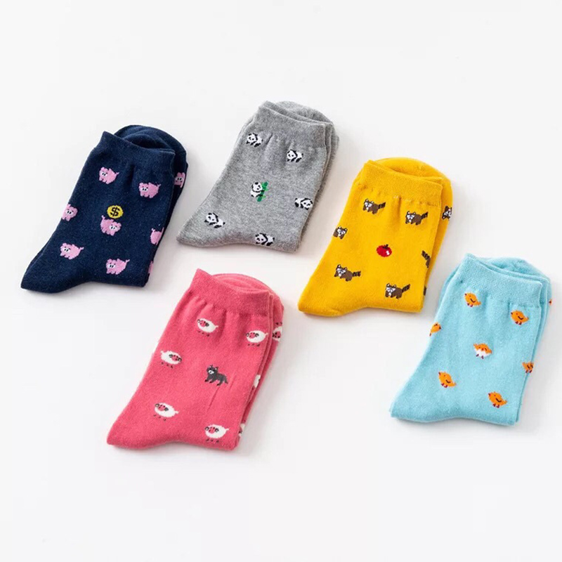 Underwear & Sleepwears Animal Cartoon Harajuku Funny Socks Sheep Pigger Panda Cute Socks Women Creative Divertidos Sokken Lovely Art Calcetines Mujer