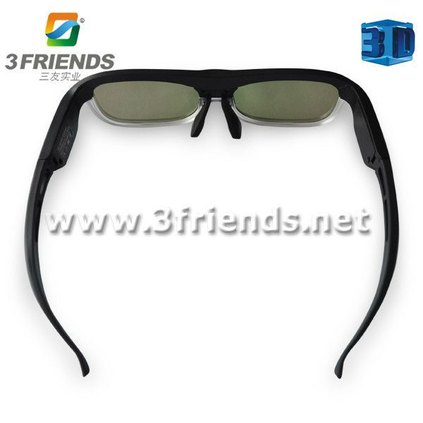 4pcs/lot + Free shipping  rechargeable lithium battery hot bluetooth 3d glasses