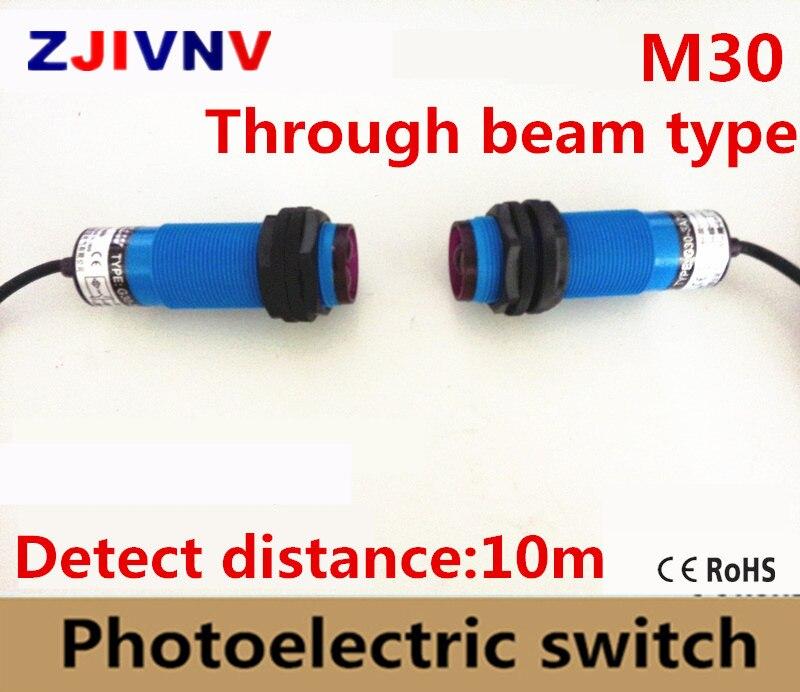 M30 Par type de faisceau Photoélectrique/capteur photoélectrique interrupteur DC PNP NPN NO NC 3 fils NO + NC et AC NO NC 2 fils distance 10 m