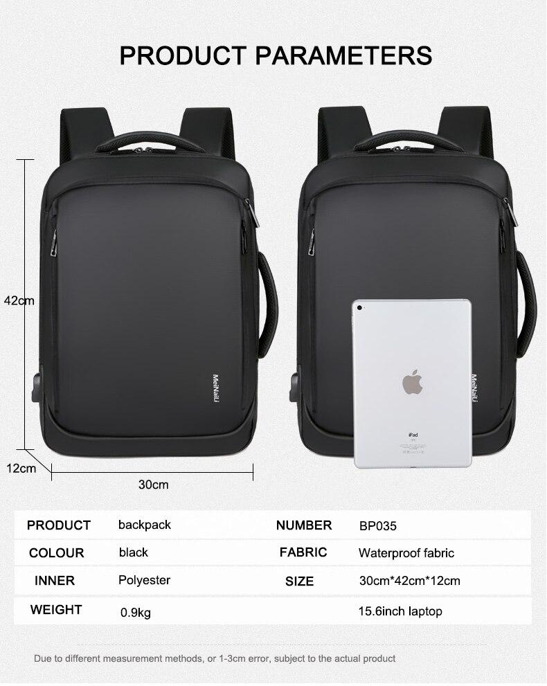 Sac à dos pour ordinateur portable multifonctionnel 11