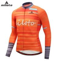 Arancione uomo Pullover di Riciclaggio Del Manicotto Pieno Riflettente Uomo Bicicletta Shirt Mountain Bike Top Highqualtiy 2018 Nuovo Arrivo XS Sml