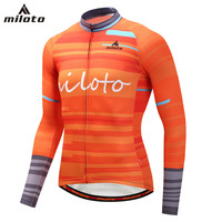 Orange Men S Cycling Jerseys Full Sleeve Reflective Man Bicycle Shirts Mountain Bike Top High Qualtiy