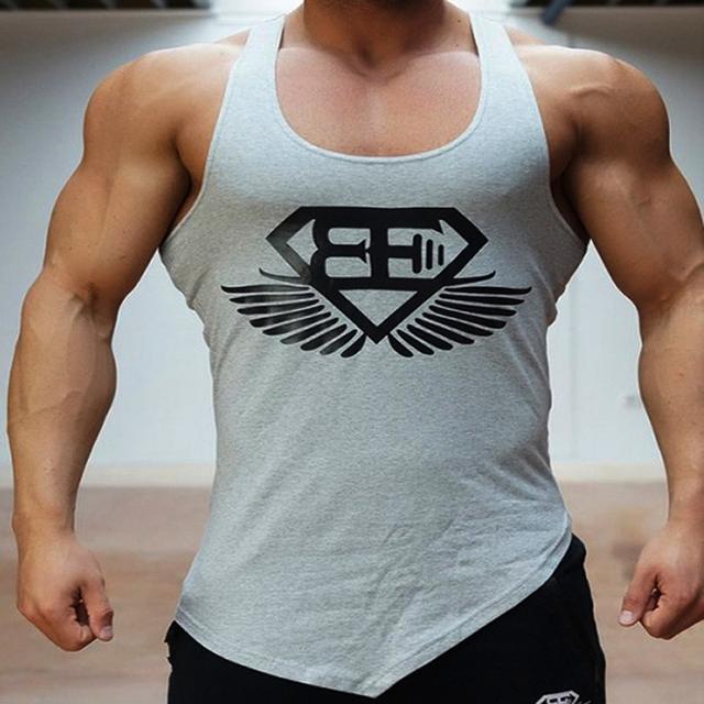 Casual vest men t shirts Summer Cotton Fit Men Tank Tops Clothing Bodybuilding Undershirt Golds Fitness man M-2XL