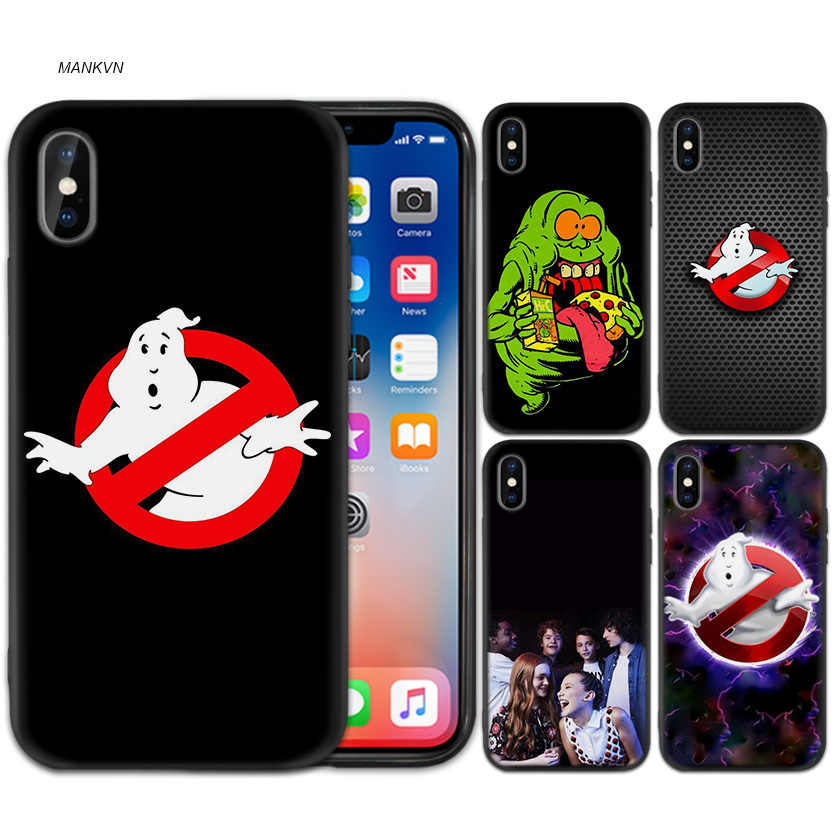 Ghostbusters Hitam Karet Lembut TPU Silicone Case Cover For iPhone X XS XR X 11 11Pro Max 7 8 6 6S 5 5S 5 5C Se Plus Case