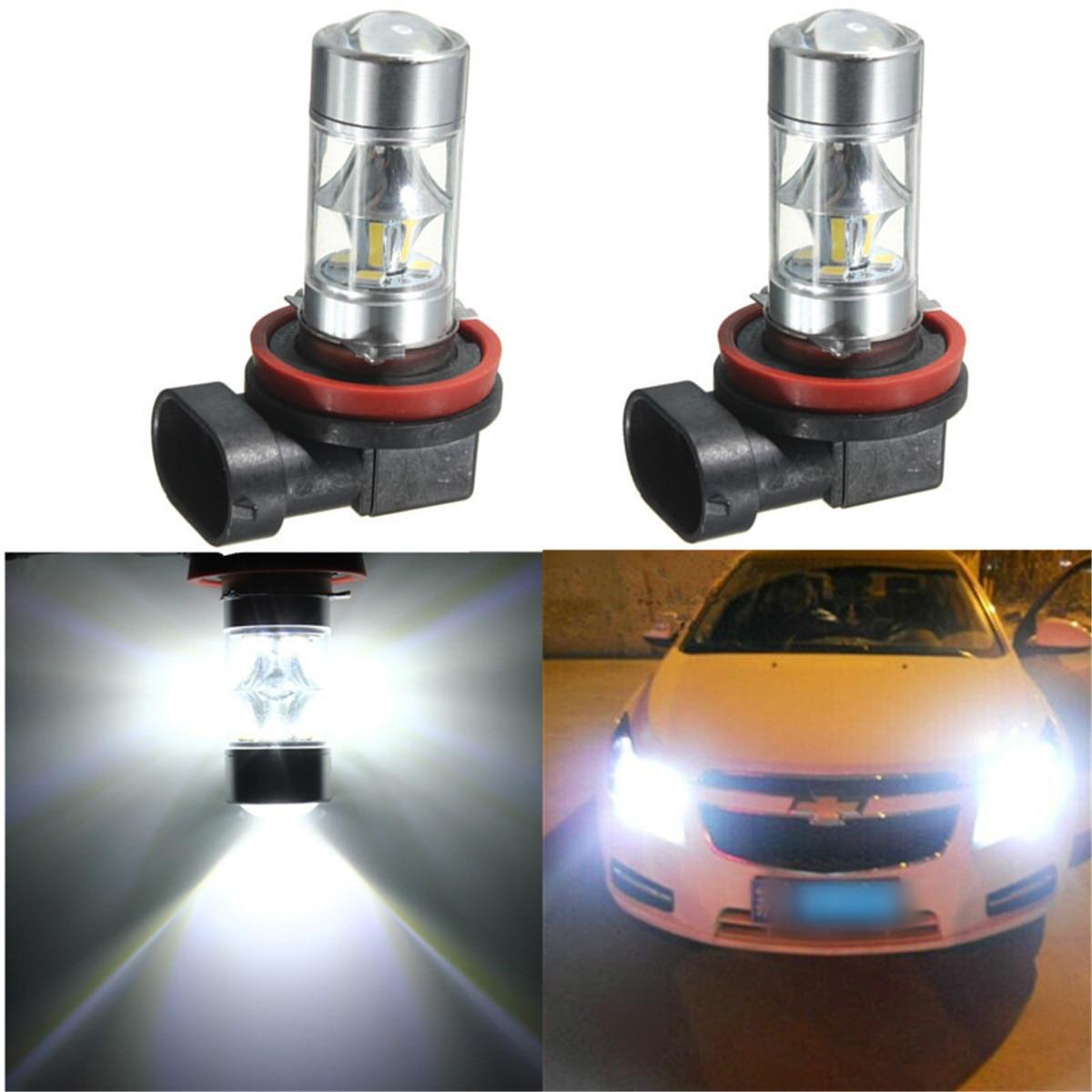 Car Headlight Bulbs(led) Strict 2pcs High Quality H8 Fog Light 15 Smd 2835 Led H11 Hb3 9005 9006 High Power Led Drl Bulb Fog Driving Light Bulb White Yellow 12v High Quality Goods Automobiles & Motorcycles