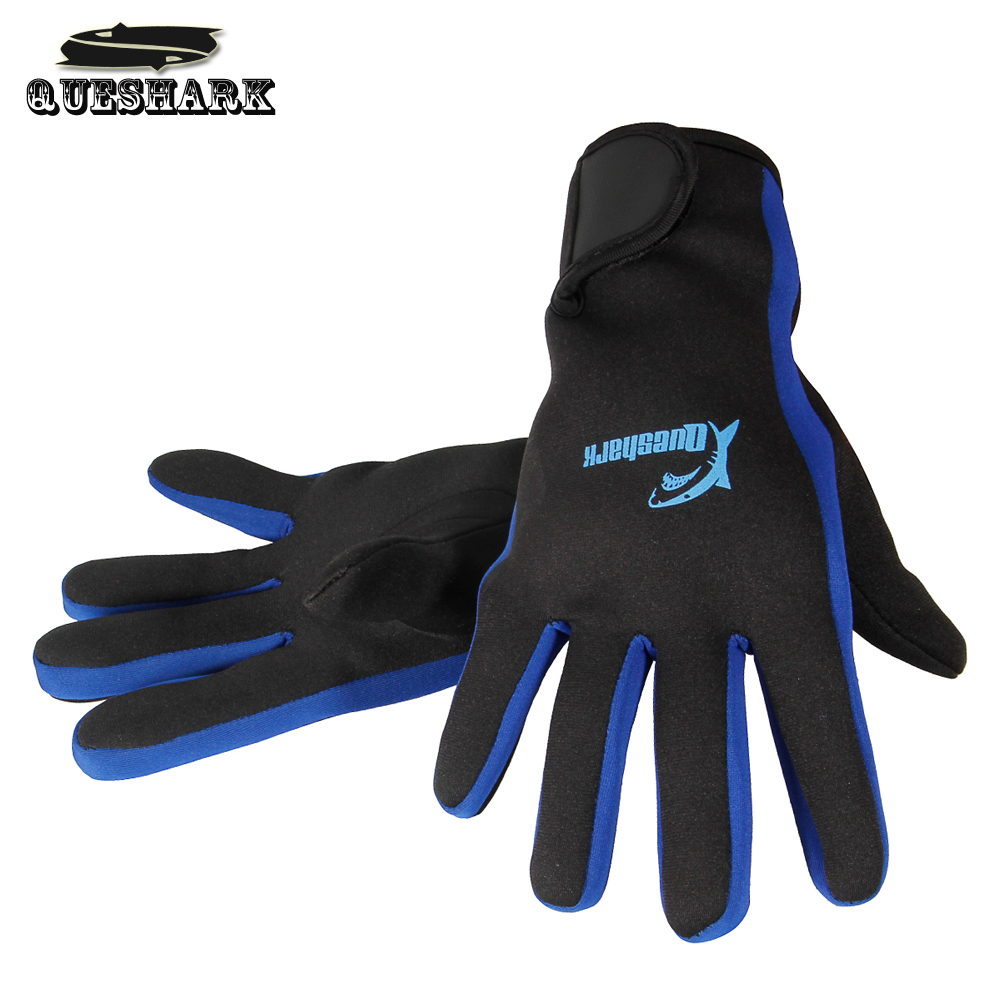 Queshark 1.5MM Neoprene Diving Gloves Warm Non-slip Snorkeling Equipment Wetsuit Big Size Swimming Gloves