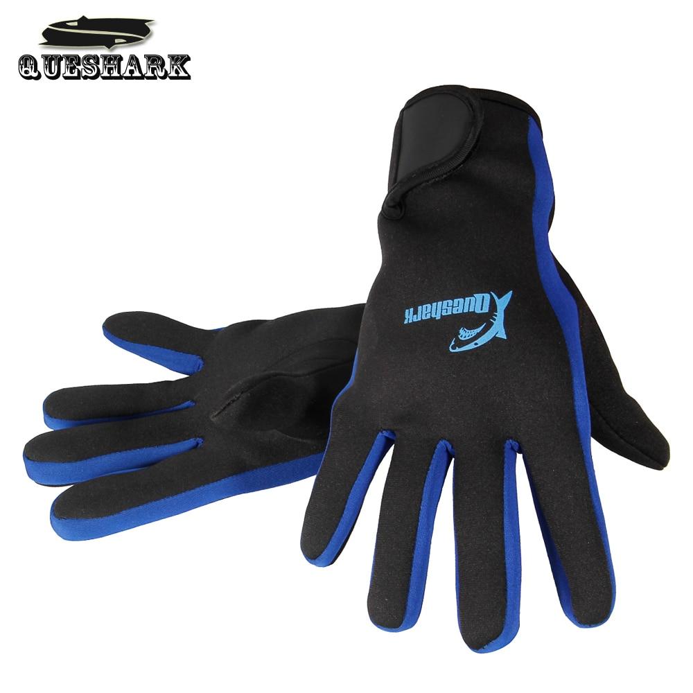 Queshark 1.5MM Neoprene Diving Gloves Warm Non-slip Snorkeling Equipment Wetsuit Big Size Swimming Gloves