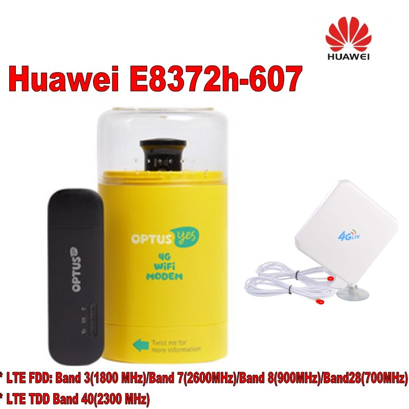 Huawei Wingle E8372h-607 LTE USB WiFi Débloqué modem + TS9 4G antenne 35dbi