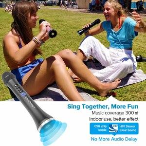 Image 3 - Lewinner L 698 professional 15W portable USB wireless Bluetooth karaoke microphone speaker with Dynamic microphone