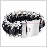 8 46 30mm 175g Good Gift Cool 316L Stainless Steel Silver Curb Chain Mens Boy Bracelet