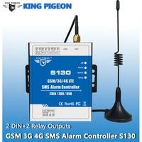 King Pigeon SMS Pilot System Alarmowy GSM 3G 4G 2 DIN 2 2DOUT RTU Kontroler do Automatyzacji Systemu monitoringu S130