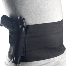 Tactical Elastic Waist Concealed Carry Belly Band Pistol Gun Holster 2 Magazine Pouch For Glock 23 Sig 226(3 size)