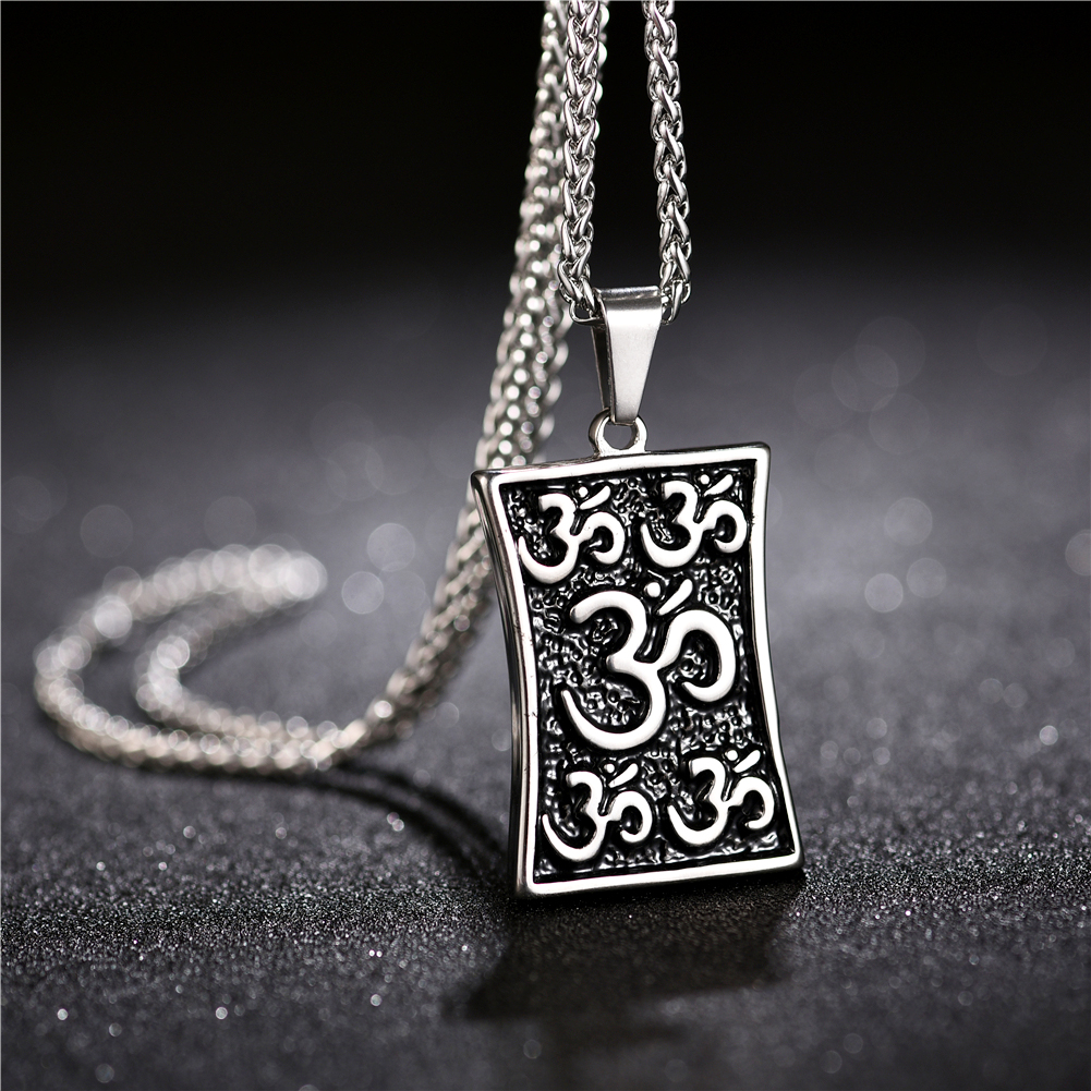 Muslim Shahada Islam Allah Prayer Pendant Necklace Mens Stainless Steel Talisman Jewelry With Gift Bags