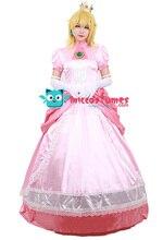 大人ピーチ姫衣装女性コスプレピンクドレス