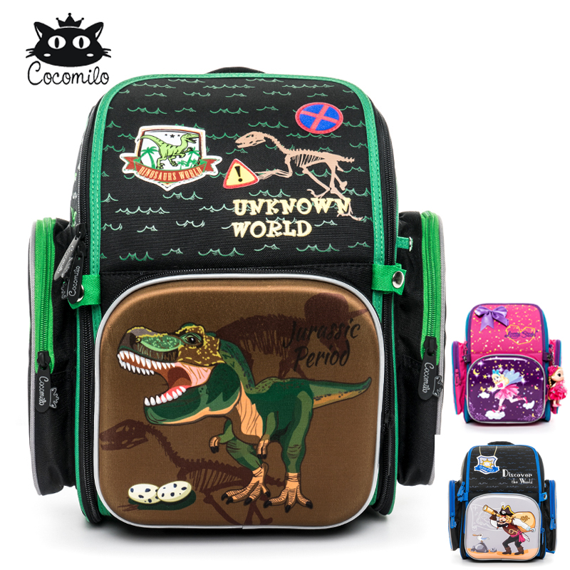 Cocomilo Children School Backpack for Boys Cartoon Pattern School Bag Orthopedic Backpacks Mochila Infantil Large for Grade 1-3Cocomilo Children School Backpack for Boys Cartoon Pattern School Bag Orthopedic Backpacks Mochila Infantil Large for Grade 1-3