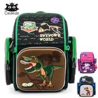 Cocomilo szkolne dla dzieci plecak dla chłopców Cartoon wzór torba szkolna plecaki ortopedyczne Mochila Infantil duży dla klasy 1 3 w Torby szkolne od Bagaże i torby na