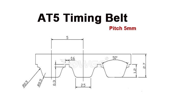 powge 5meters at5 timing belt at5 10 pu open belt width 10mm rh aliexpress com Industrial Timing Belts at5 timing belt dimensions