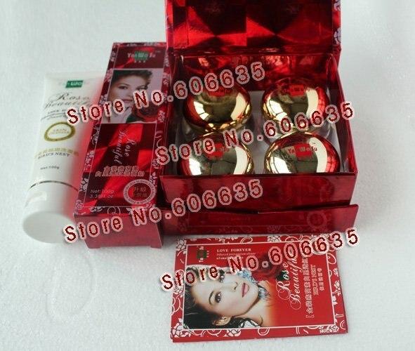 YanWoSu bailitouhong (4en1) blanqueamiento conjunto crema hidratante