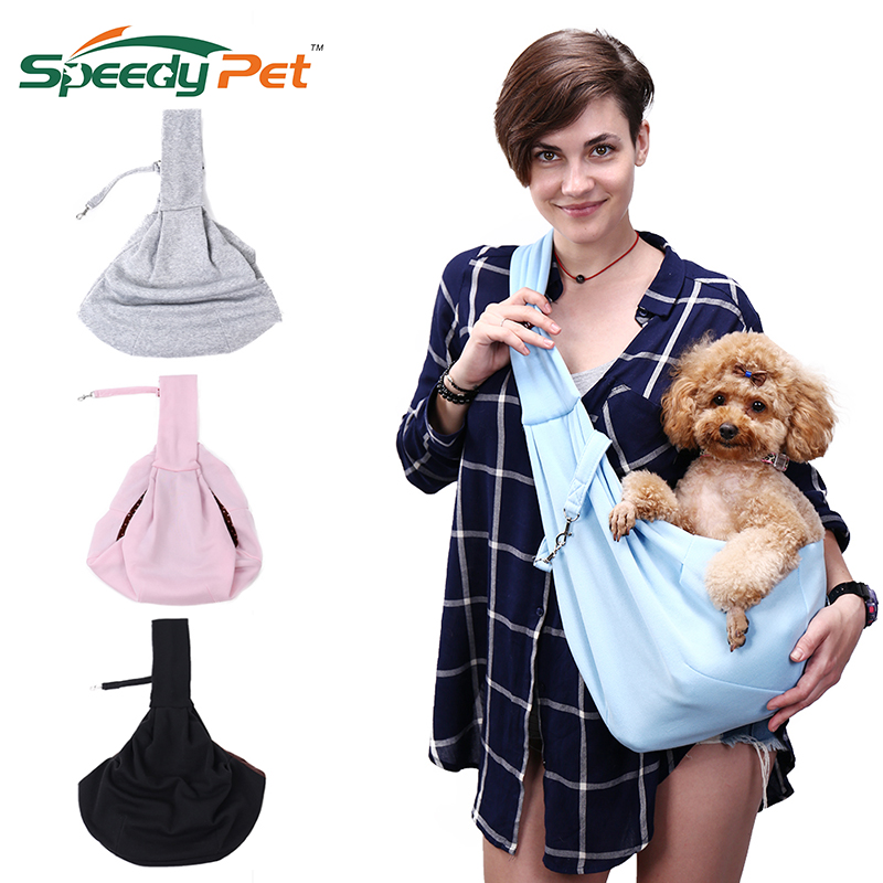 Hands-free Reversible Small Dog Bag Cat Sling Carrier Bag Travel Tote Breathable Double-sided Pouch Shoulder Carry Tote Handbag