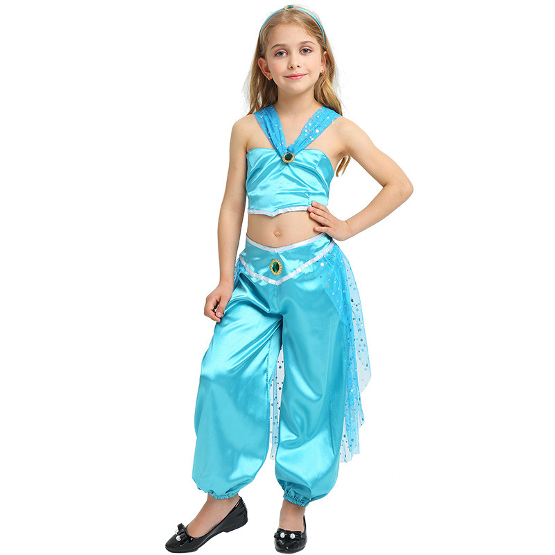 Kids Carnival Party Costume Children Girls Arab Princess Cosplay Costumes Hallowmas Party Fancy Dress Christmas Halloween