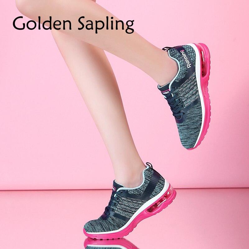 Golden Sapling Woman Tennis Shoes Women Sneakers Air Mesh Fabric New Women s Sneakers Fitness Trainer