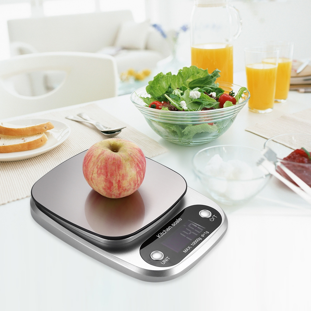Range 10kg / 1g Digital Kitchen Scales With LCD Display Mini Electronic Scales Balanca Pocket Case Postal Kitchen Jewelry Weight