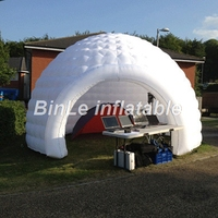 China Outdoor Lawn Event Gazebo Exhibition Booth Dome Paty Advertising White Wedding Inflatable Tent With LED Sale