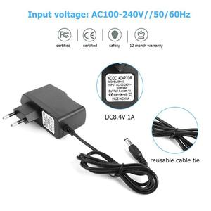Image 5 - DC 8.4V 1A/4.2V 1A/21V 2A/16.8V 1A/8.4V 2A 18650 Lithium Battery Charger Adapters DC5.5*2.1mm Plug Power Charging Adapter