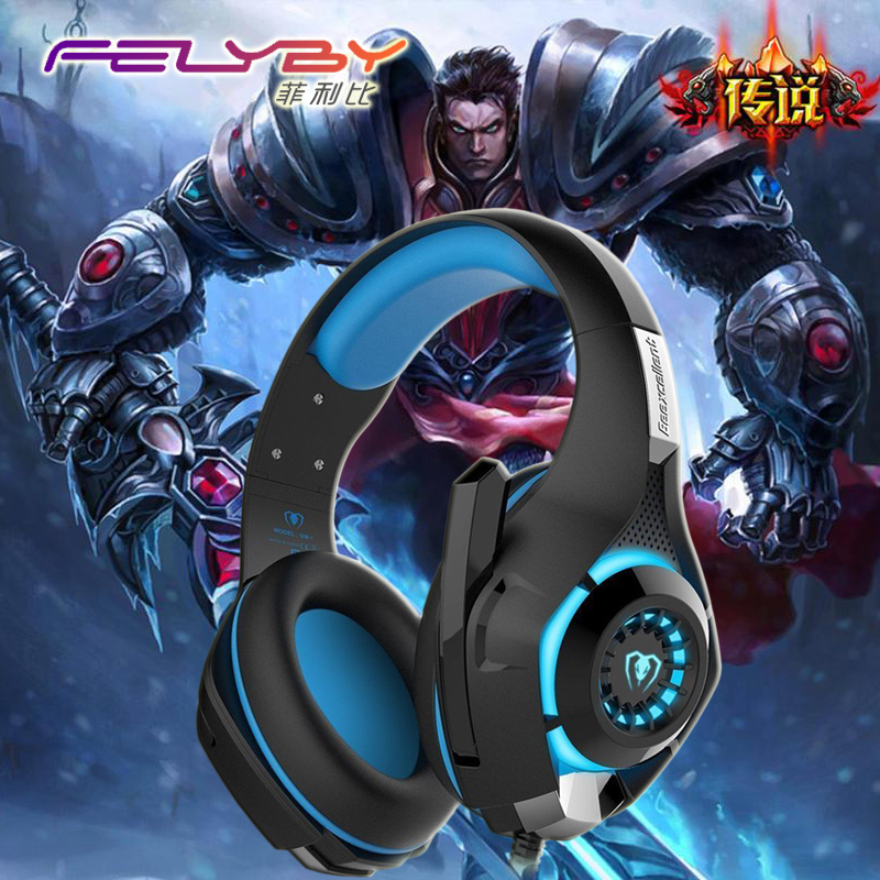 New  for mobile phone PS4 PSP PC Gaming Headphones 3.5mm+usb Wired Headset with Microphone LED Lamp Noise Canceling Headphone new new mobile phone lcd for htc