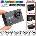 SJ9000 Wifi 4 K 30FPS HD Esportes de Ação Da Câmera À Prova D' Água + Bateria + 32 GB + Bolsa Para Transporte