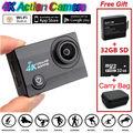 SJ9000 Wifi 4K 30FPS HD Waterproof Sports Action Camera+Battery+ 32GB+ Carry Bag