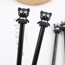 2 pcs/lot Black Cat Gel Pen Cute 0.5 mm Animal black ink Signature pens for writing office school supplies stationery gift 8 pcs lot kawaii cat footprint gel pens for writing cute black ink signature pen office school supplies canetas lapices