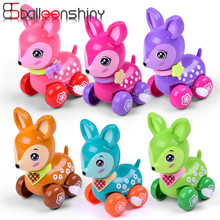 Balleenshiny Clockwork Lente Toy Mini Grappige Kleurrijke Speelgoed Baby Kid Beste Stijl Wind Up Running Gift Willekeurige Kleur Voor Pasgeboren baby
