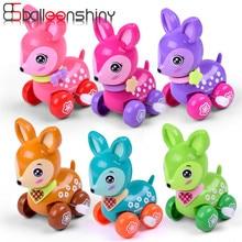 Balleenshiny Clockwork אביב צעצוע מיני מצחיק צבעוני צעצוע תינוק ילד יקר רוח סגנון ריצה מתנה אקראי צבע ליילוד תינוק